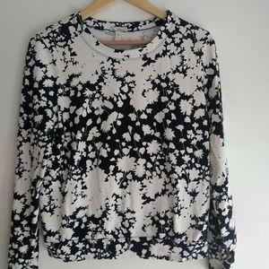 Gap Navy and White Floral Print Sweatshirt